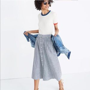 Madewell // Palisade Button-front Midi Skirt